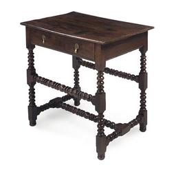 AN CHARLES II OAK SIDE TABLE
