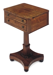 A WILLIAM IV ROSEWOOD WORK-TAB