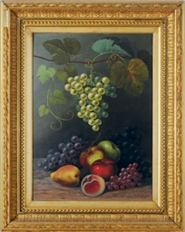 Still life of fruit and grapes