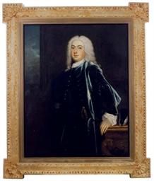 Portrait of a gentleman in a b