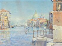 The Gran Canal, Venice, with the Santa Maria della Salute; and a companion watercolor