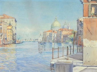 The Gran Canal, Venice, with t