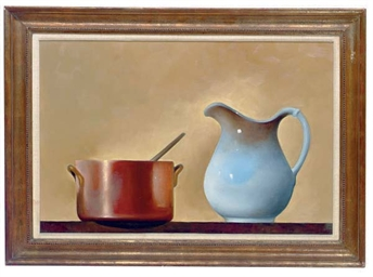 Still life with pitcher and co