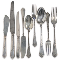 A FRENCH PART FLATWARE SERVICE