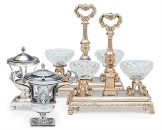 A GROUP OF FRENCH SILVER TABLE