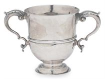 A GEORGE I SILVER TWO-HANDLED CUP,