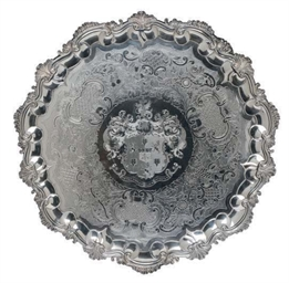 A GEORGE IV SALVER,