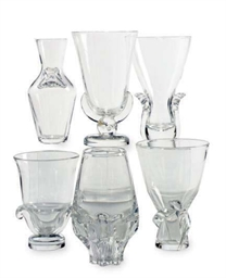 A GROUP OF SIX AMERICAN GLASS