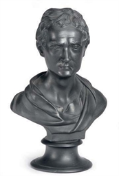 AN ENGLISH BLACK BASALTES BUST