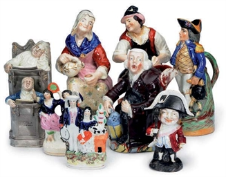 A GROUP OF EIGHT STAFFORDSHIRE