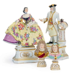 A PAIR OF FRENCH MEISSEN-STYLE