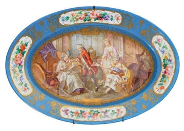 A GROUP OF SEVRES STYLE PORCEL