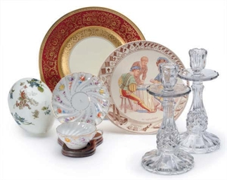A SET OF TWELVE GERMAN PORCELA
