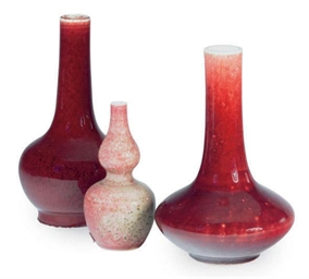 A GROUP OF THREE CHINESE GLAZE