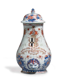 A CHINESE IMARI ARMORIAL WALL
