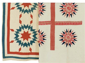 TWO AMERICAN PIECED QUILTS,