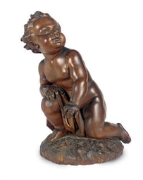 AN ITALIAN FRUITWOOD FIGURE,
