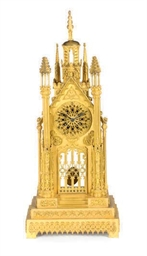 A FRENCH GOTHIC REVIVAL GILT-B