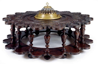 A SPANISH HARDWOOD LOW TABLE,
