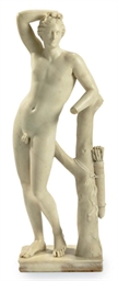A CONTINENTAL MARBLE FIGURE