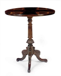 A ROSEWOOD TRIPOD TABLE