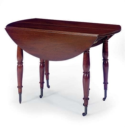A FRENCH MAHOGANY DROP-LEAF EX