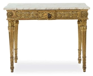 A NORTH ITALIAN GILTWOOD AND M