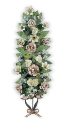 A PAIR OF TOLE PEINTE TWO-LIGH