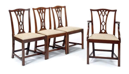 A SET OF TEN ENGLISH MAHOGANY