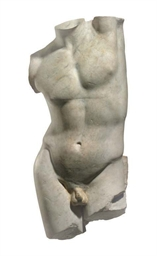 A EUROPEAN MARBLE FIGURE OF A
