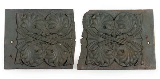 A PAIR OF CAST-IRON ARCHITECTU