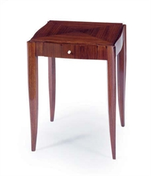 AN ART DECO ROSEWOOD SIDE TABL