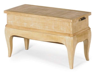 A FRENCH LIMED-OAK SEWING TABL