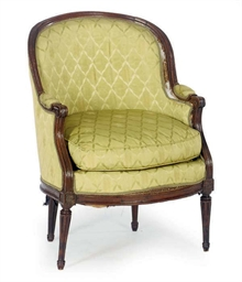 A LOUIS XVI WALNUT BERGERE,