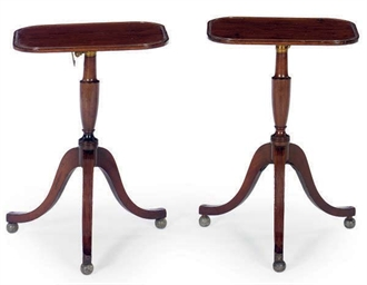 A PAIR OF REGENCY MAHOGANY TRI