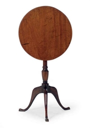AN ENGLISH MAHOGANY TILT-TOP C