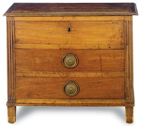 AN ITALIAN FRUITWOOD AND WALNU