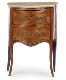 A LOUIS XV PROVINCIAL INLAID W