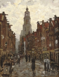 Streetscene in Amsterdam, the