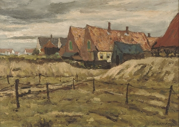 Wijk aan Zee: houses in the du