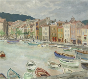 Boats in the harbour of Cagnes