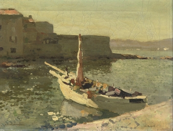 St. Tropez: moored fishingvess