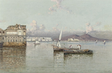 Fishermen in the bay of Naples