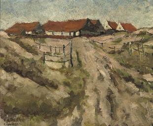 Wijk aan Zee: houses in the du