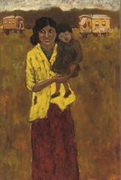 Gipsy woman with child