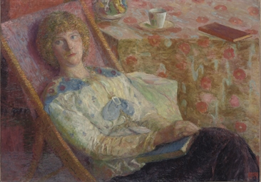 Woman in a lounge-chair