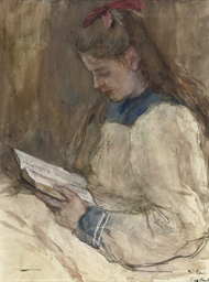 Portrait of Marie reading