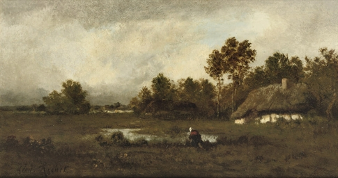 Near Barbizon: by a farm