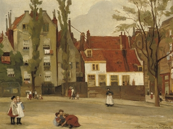 Children playing on a square