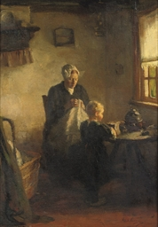 Mother and child in a Dutch in